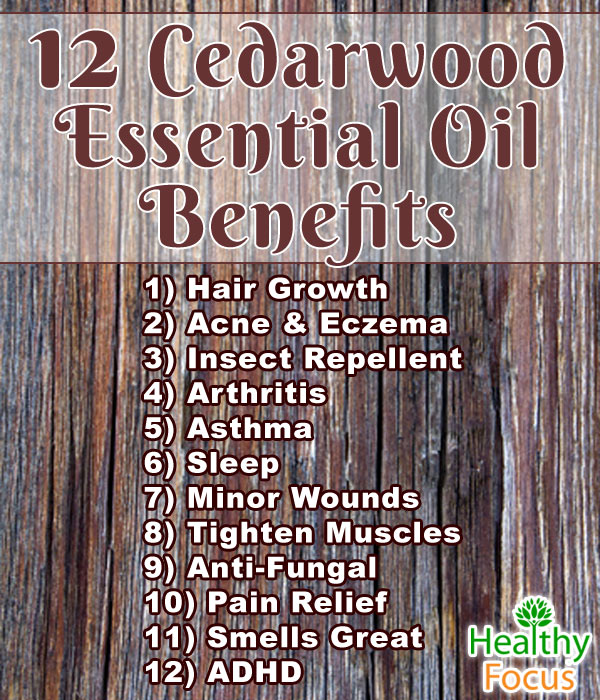 cedarwood oil benefits infographic